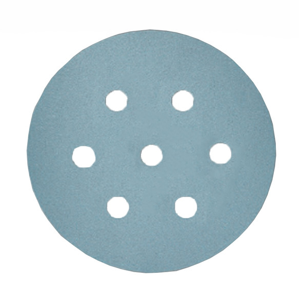 "sia Abrasives Series 1948 siaflex Aluminum Oxide 6"" 7-Hole Disc - 220 Grit"