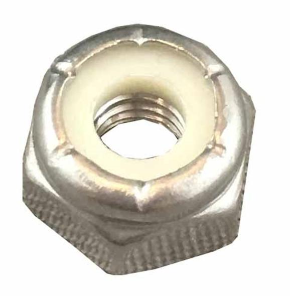 Nylon-Insert Lock Nut - 10/32 inch - Stainless Steel