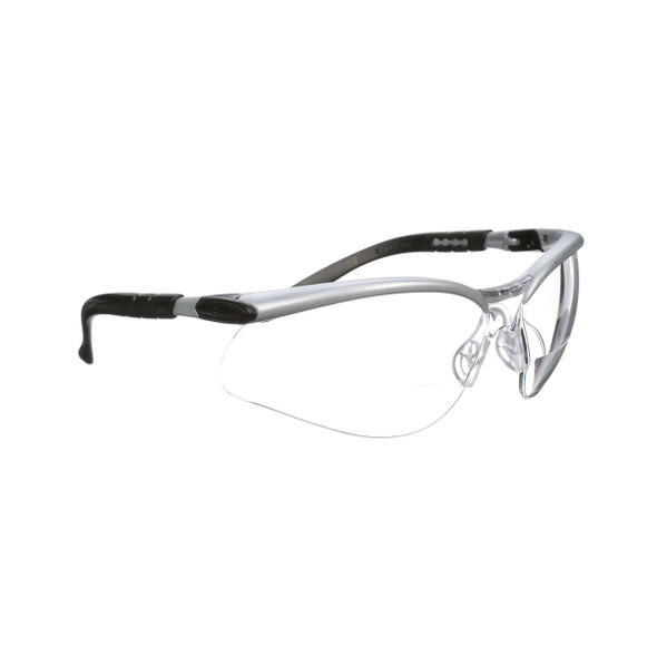 3M 11376-00000-20 BX Reader Protective Eyewear Clear Lens Silver Frame +2.5 Dioptre