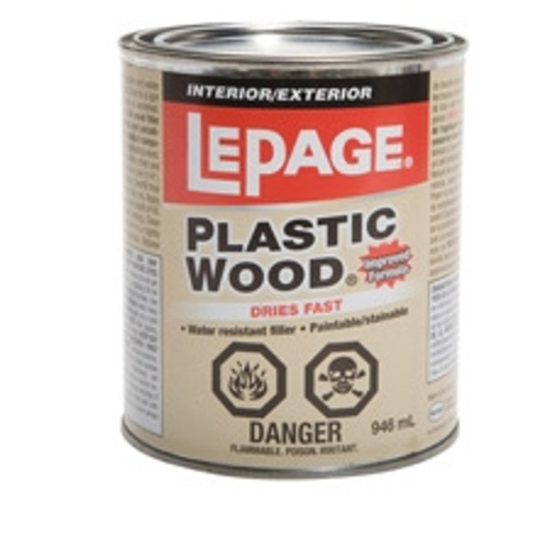 Lepage 484-2 Plastic Wood Wood Filler 473ml