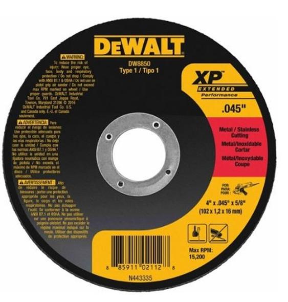 """Dewalt DW8851 XP Metal Cutting Wheels 4 1/2"""" - .045"""" - 7/8"""""""
