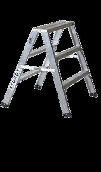 Sturdy 130-03 3' Aluminum Sawhorse Ladder