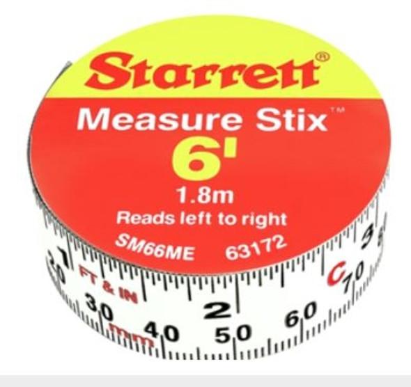 """Starrett SM66ME 3/4"""" x 6' Measure Stix"""