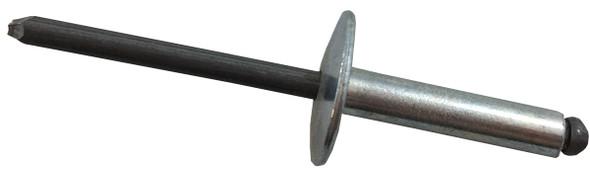 "POP AD610BSLF 3/16"" Diameter Open End Rivet Aluminum/Steel Large Flange"