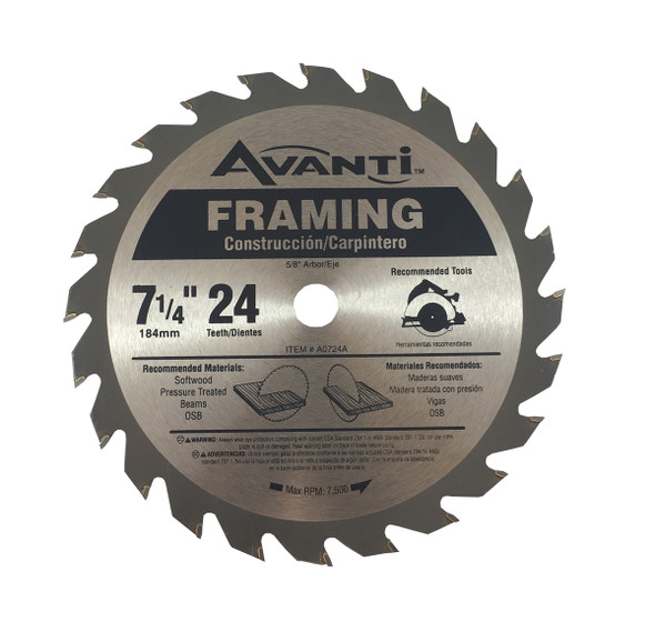"Avanti Carbide Blade 7 1/4"" - 24 Teeth"