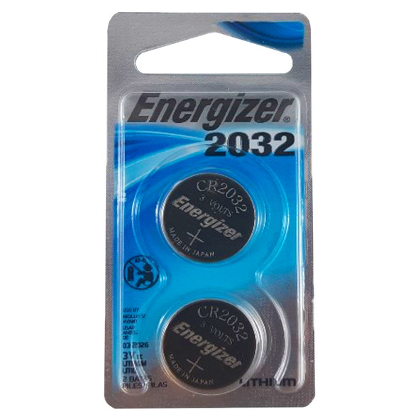 Energizer ECR2032BP2 3V Lithium Primary Coin Cell Batteries - 2 Per Pack