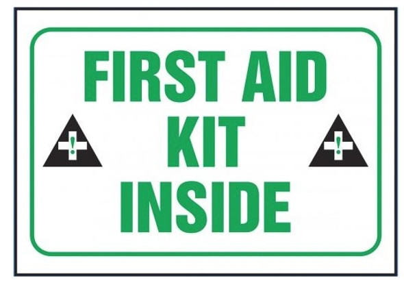Accuform LFSD509XVE Safety Label: First Aid Kit Inside