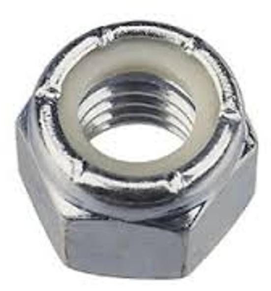 Nylon Lock Nut National Coarse Thread Zinc Plated