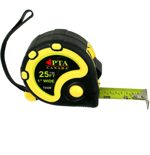 Premium Tool T2225 25' x 7.5 m Standard Tape Measure