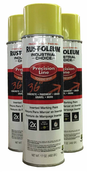 Rust-Oleum 203025 Precision Line High Visibility Yellow Spray Paint