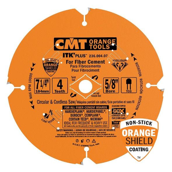 "CMT 236.004.07 Orange 7 1/4"" ITK Plus Diamond Saw Blade"