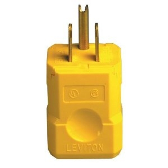Hubbell HBL5965VY Yellow Male Plug End Connector
