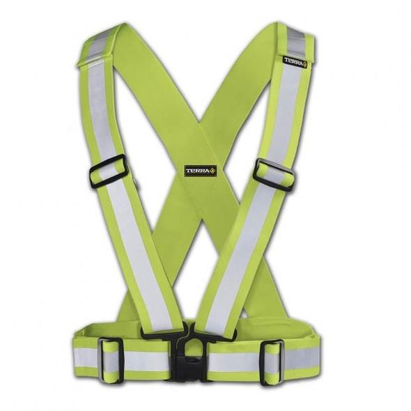 Terra 451001YL High Visibility Safety Sash Yellow