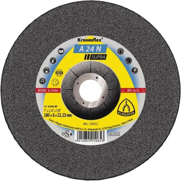 "Klingspor 2951 5"" x 3/32"" x 7/8"" Kronenflex A24N Grinding Disc"