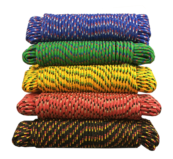 "3/8"" Multi Color Rope 100ft"