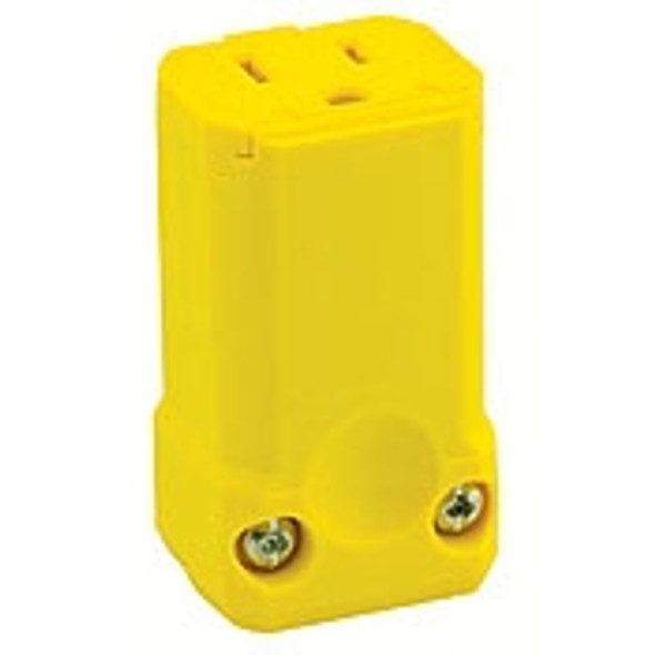Hubbell HBL5969VY Yellow Female Plug End Connector