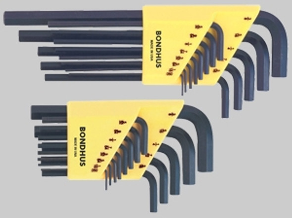 Bondhus 12146 6 Piece Long Hex L-Wrench Set (1.5-5mm)
