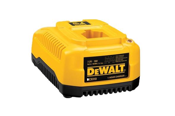 Designed to charge all DEWALT 7.2V - 18V NiCd/NiMH/Li-Ion batteries