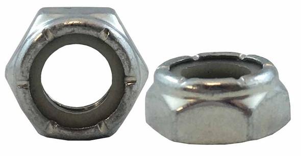Nylon-Insert Jamb Nut - Zinc PLTD - Fine
