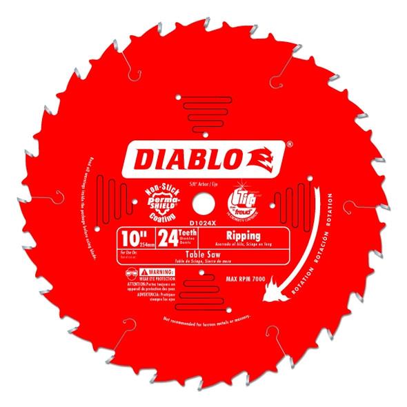 "Diablo 10"" 24 Tooth Ripping Teflon Blade"