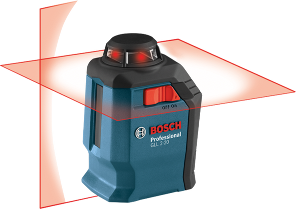 Bosch GLL 2-20 Self-Leveling 360° Line and Cross Laser