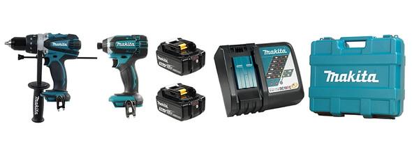 Makita DLX2005T 18V LXT Hammer Drill & Impact Driver Combo Kit (MKTDLX2005T)