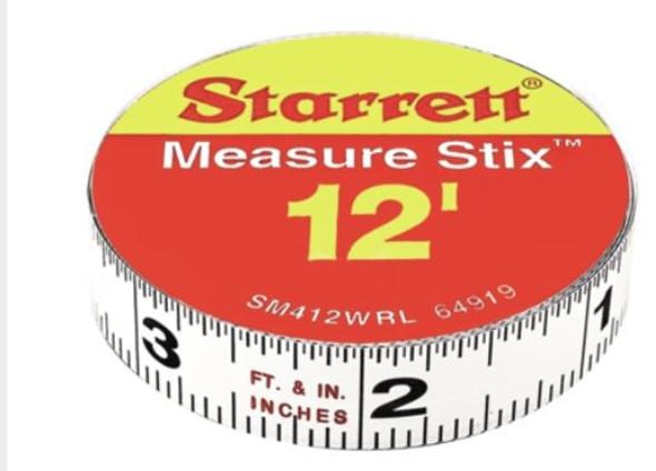 """Starrett SM412WRL 1/2"""" x 12' Measure Stix"""