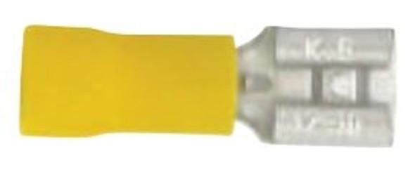 "Techspan 562093D Female Connector - .250"" x .032"" Yellow"