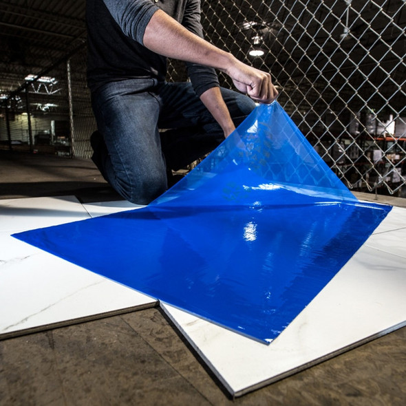 "Surface Shields CM2436B4 24"" X 36"" Blue Clean Mat"