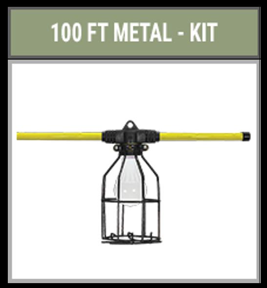 Hang-A-Light 121100 LED String Lights Metal Cage 100ft