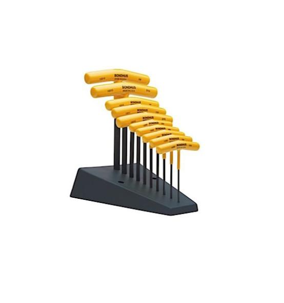 Bondhus 10 Piece T-Handle Wrench Set (Imperial)