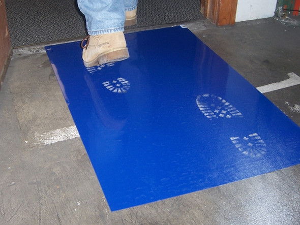 "Surface Shields CM2445B4 24"" X 45"" Blue Clean Mat"