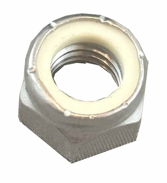Nylon-Insert Lock Nut - 3/8 inch - Stainless Steel 1