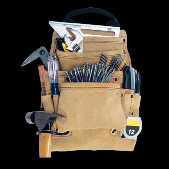 Kuny's 10 Pocket Carpenter's Nail & Tool Bag