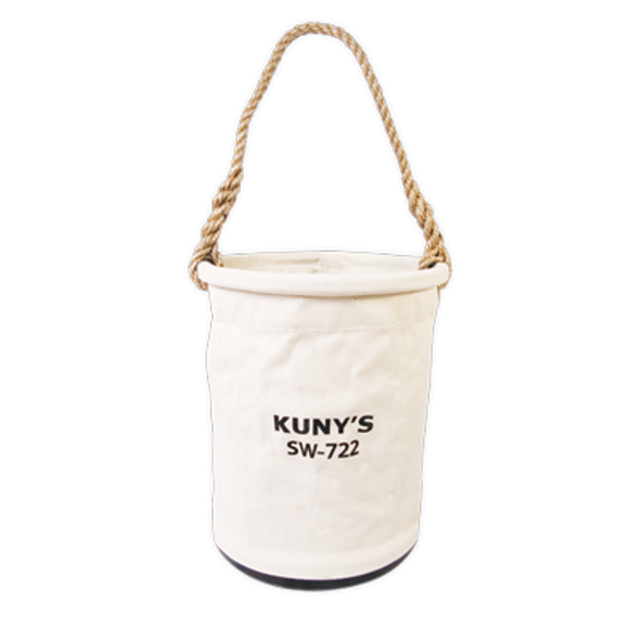"""Kuny's SW722 12"""" Plastic Bottom Utility Bucket"""