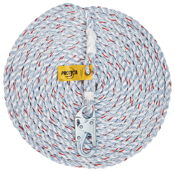 3M Protecta SSR100-100 Rope Lifeline w/ Snap Hook - 100'