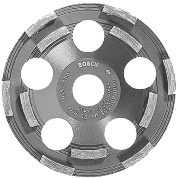 "Bosch DC500  5"" Diamond Cup Grinding Wheel for Coating Removal"
