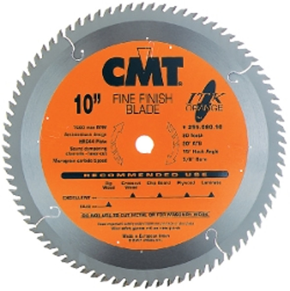 """CMT 255.080.10 10"""" 80 Tooth ITK fine finish saw blade"""