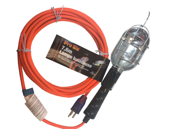 Century Wire D12920025 16/3 25' Trouble Light
