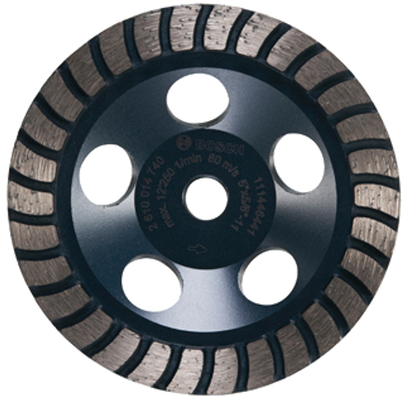 "Bosch DC530 5"" Turbo Row Diamond Cup Wheel for Finishing"