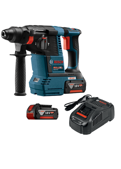 "Bosch 18V EC Brushless 1"" SDS-plus Bulldog Rotary Hammer Kit"