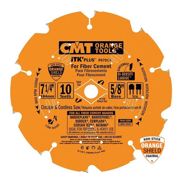 "CMT P07010 7 1/4"" ITK Plus Circular Saw Blades for Fiber Cement"