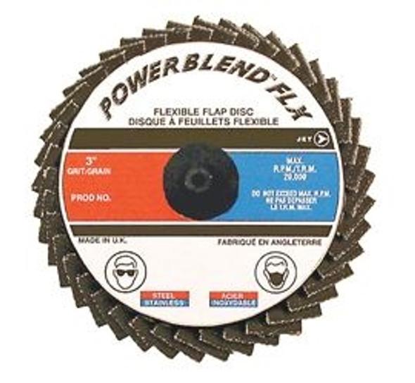 """JET 502061 2"""" Z40 POWERBLEND FLX Roll-on Flap Disc - Type R Mount"""
