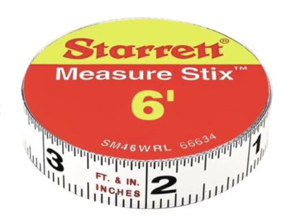 """Starrett SM46WRL 1/2"""" x 6' Measure Stix"""