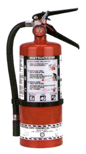 5 Lb Multi-Purpose Dry Chemical Portable Fire Extinguisher With Wall Mount