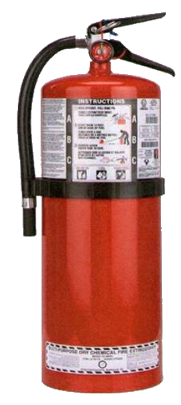 20 Lb Multi-Purpose Dry Chemical Portable Fire Extinguisher With Wall Mount