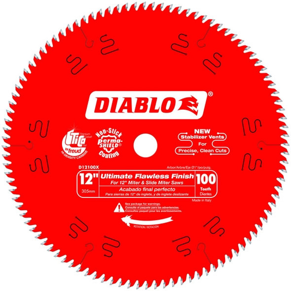 "Diablo 12"" 100 Tooth Ultimate Finish Blade"