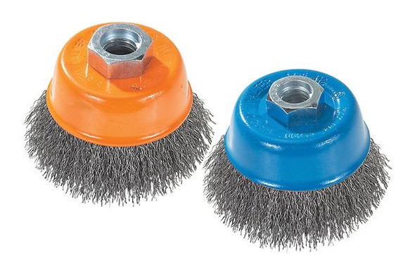 "Walter 13-D 314 Crimped Wire Cup Brush - 3"" x 5/8-11"""