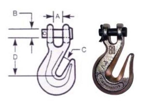 """Vanguard 3931-0016 Clevis Grab Hook - Alloy Steel 1/4"""""""