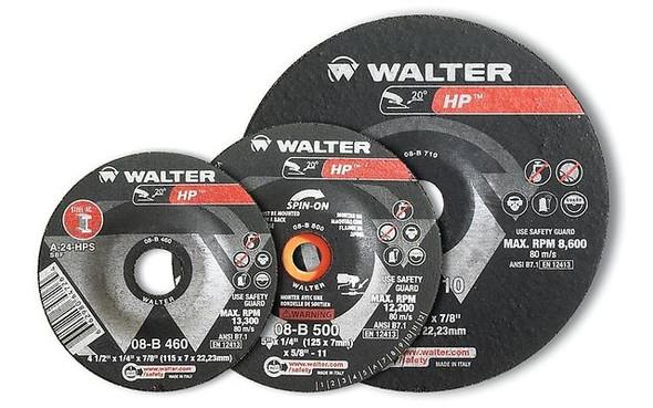 "Walter 08-B 510 5"" x 1/4"" HP Grinding Wheel/Disc - A-24-HPS"